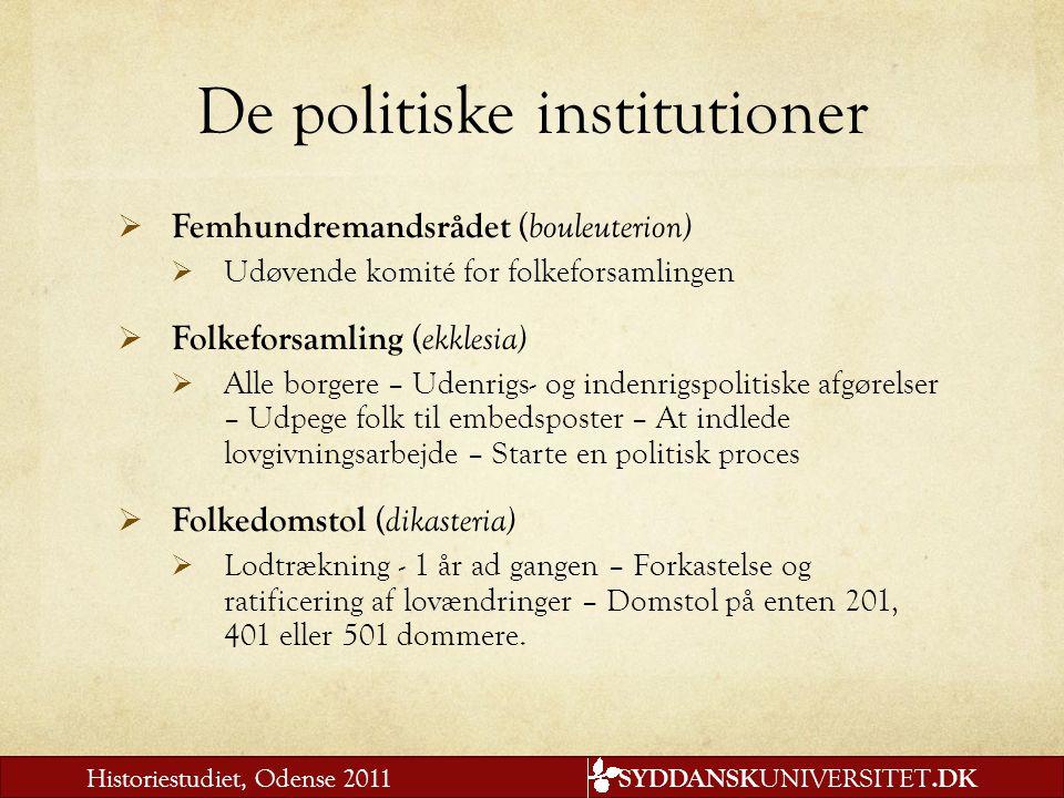 De politiske institutioner