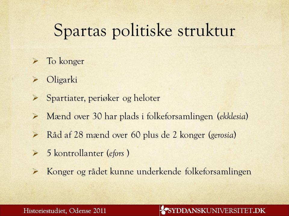 Spartas politiske struktur