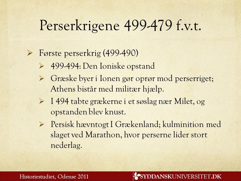 Perserkrigene 499-479 f.v.t. Første perserkrig (499-490)