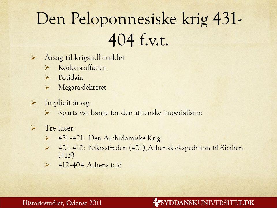 Den Peloponnesiske krig 431-404 f.v.t.