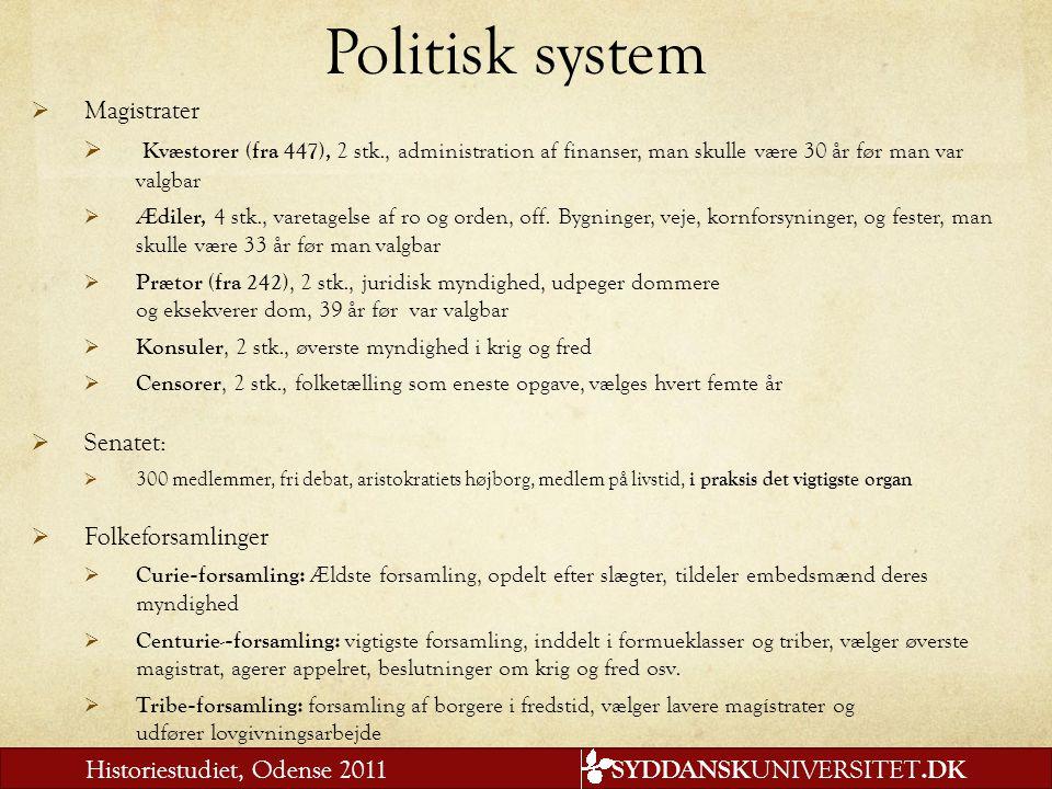 Politisk system Magistrater
