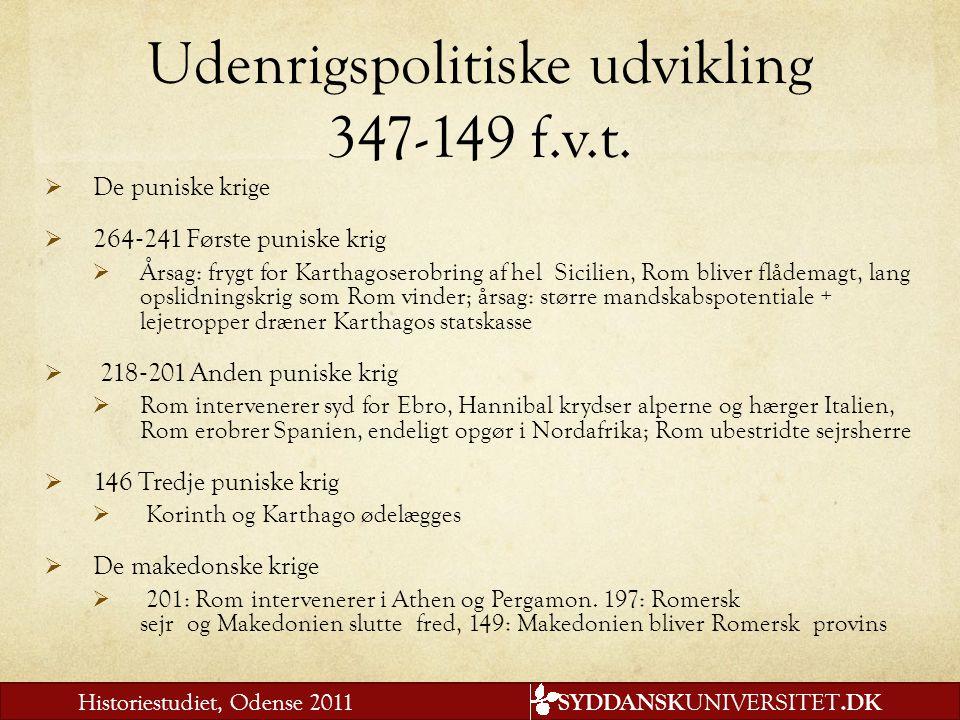 Udenrigspolitiske udvikling 347-149 f.v.t.