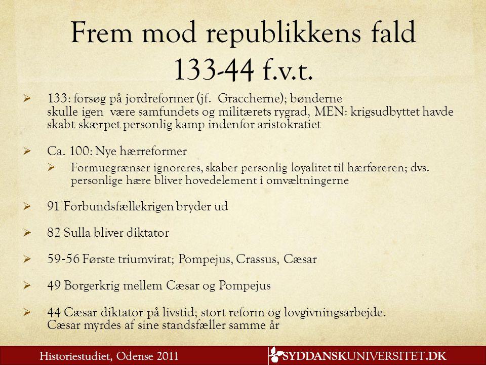 Frem mod republikkens fald 133-44 f.v.t.