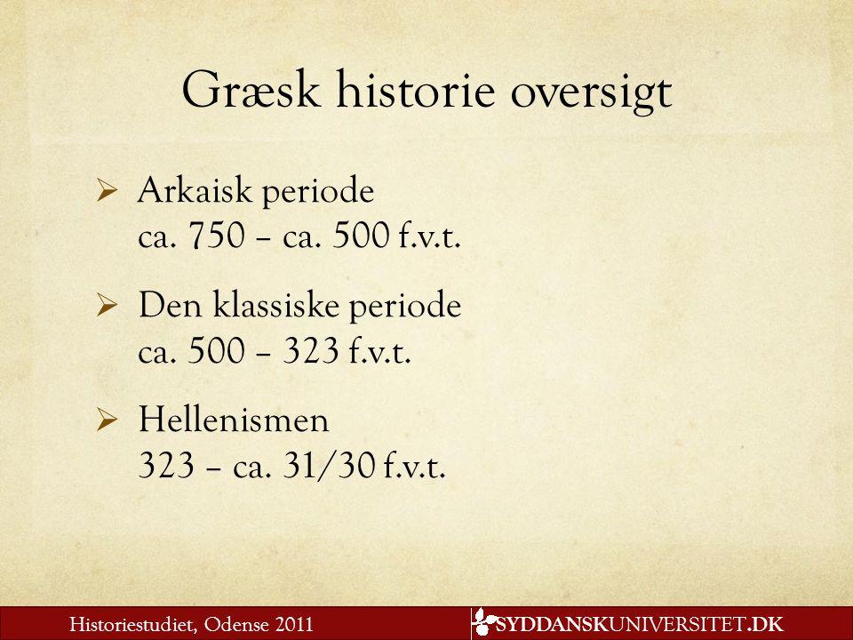 Græsk historie oversigt