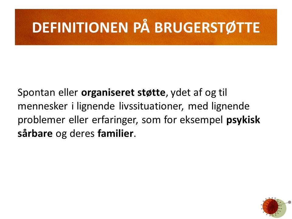 DEFINITIONEN PÅ BRUGERSTØTTE