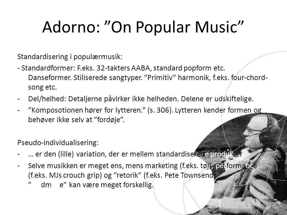 Adorno: On Popular Music