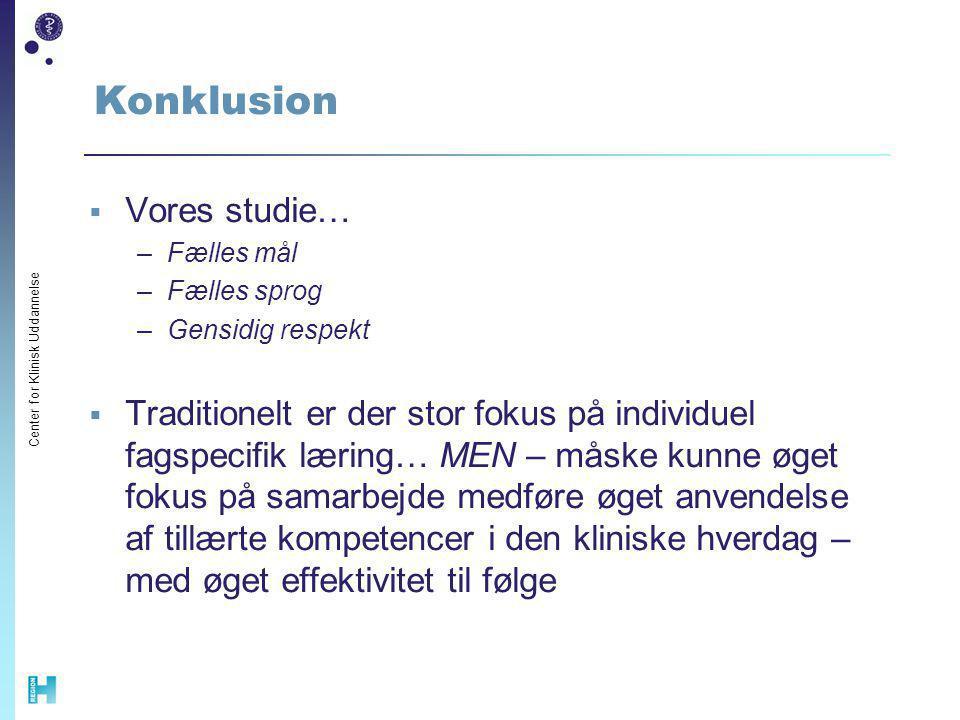 Konklusion Vores studie…