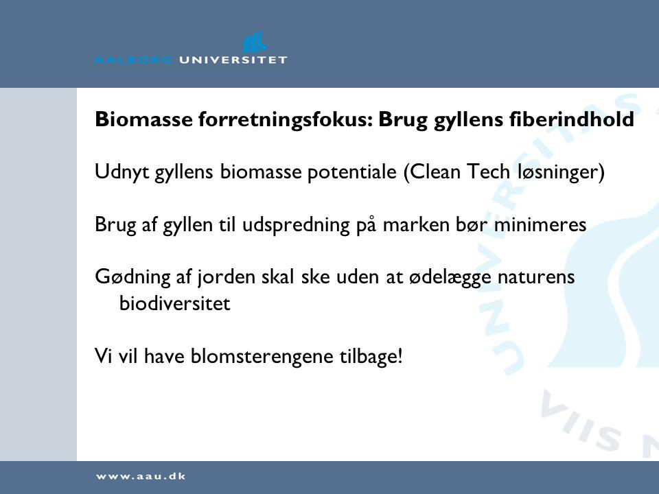 Biomasse forretningsfokus: Brug gyllens fiberindhold