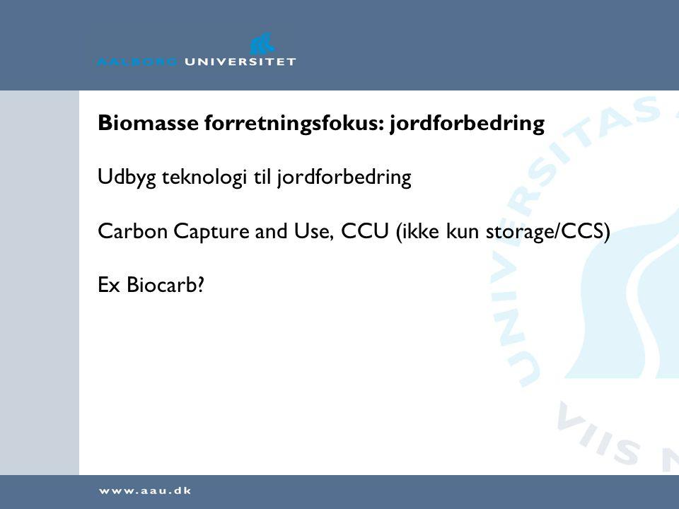 Biomasse forretningsfokus: jordforbedring