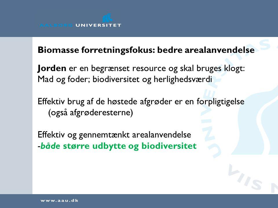 Biomasse forretningsfokus: bedre arealanvendelse