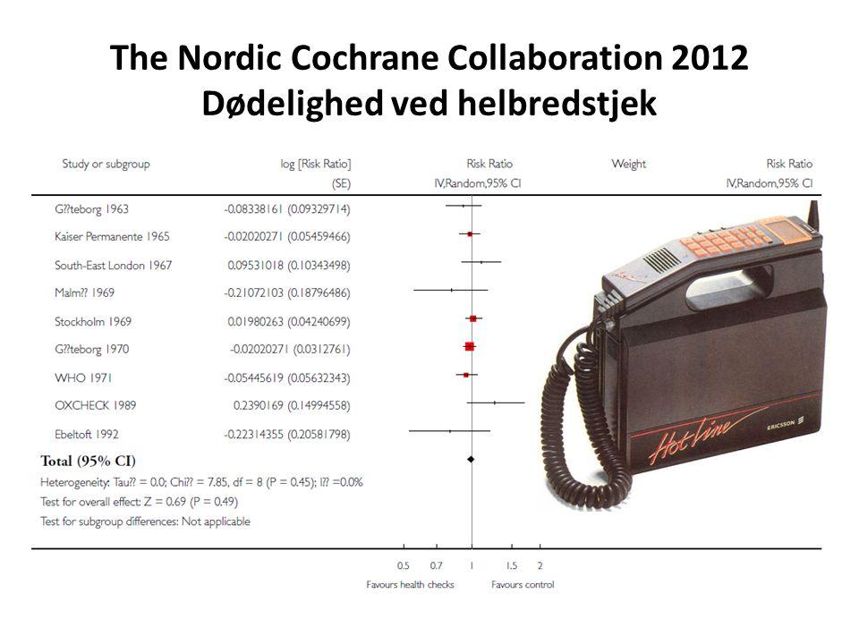 The Nordic Cochrane Collaboration 2012 Dødelighed ved helbredstjek