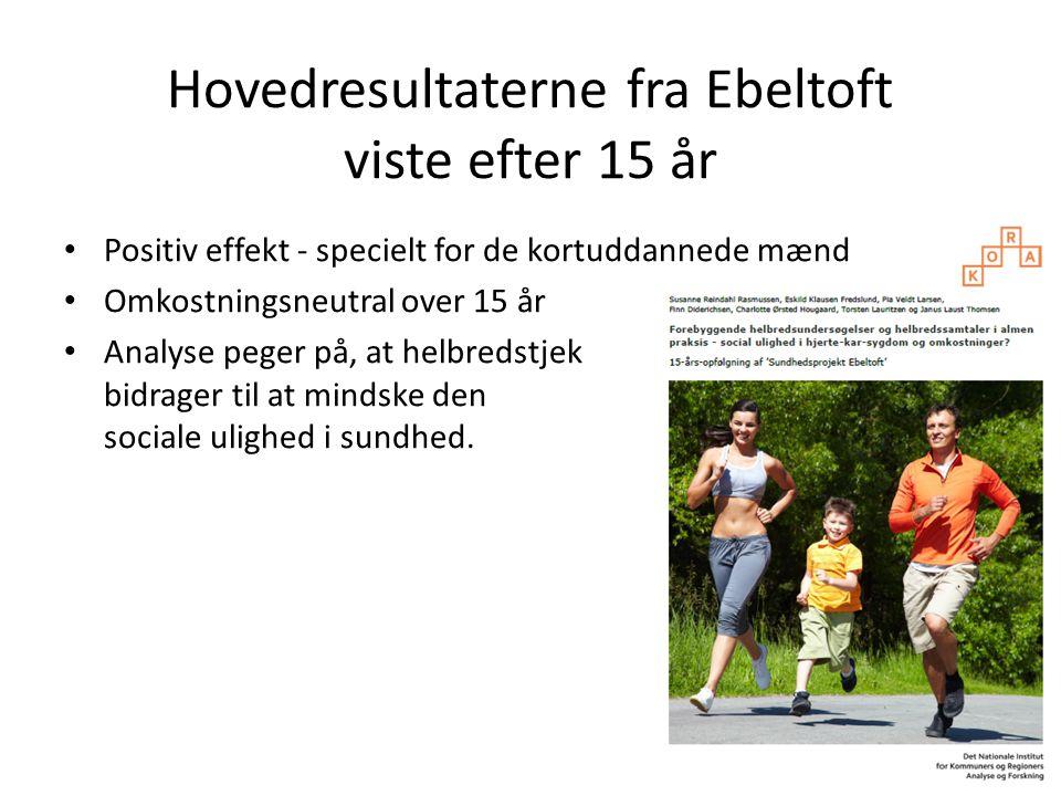 Hovedresultaterne fra Ebeltoft viste efter 15 år