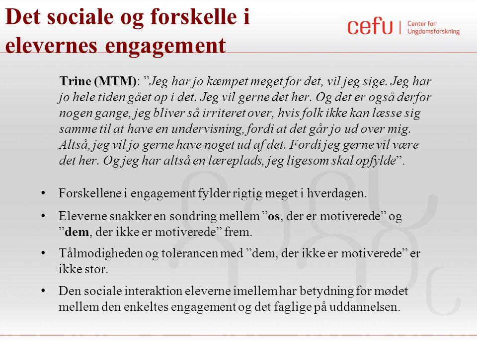 Det sociale og forskelle i elevernes engagement