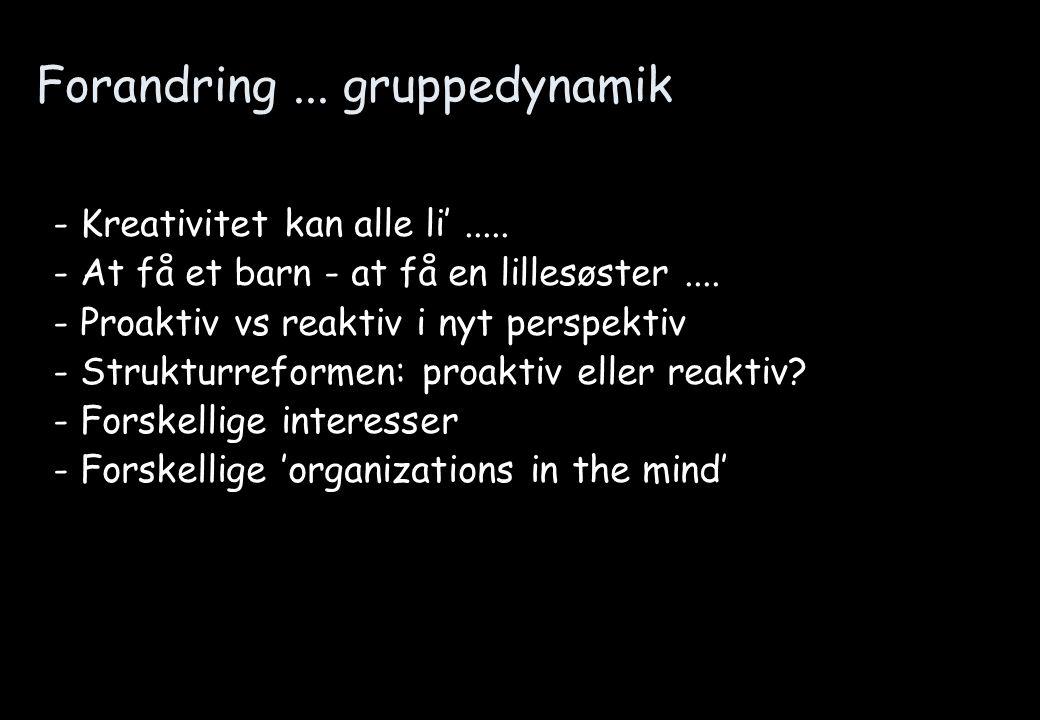 Forandring ... gruppedynamik