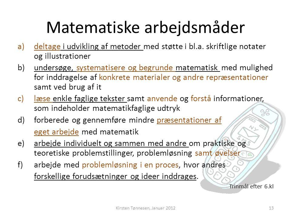 Matematiske arbejdsmåder
