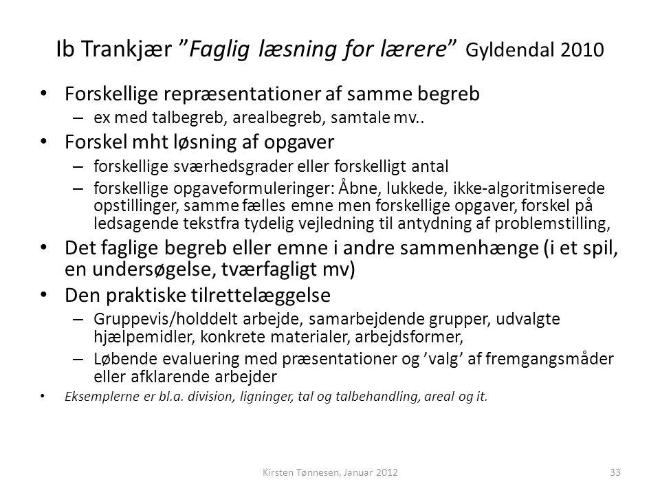 Ib Trankjær Faglig læsning for lærere Gyldendal 2010