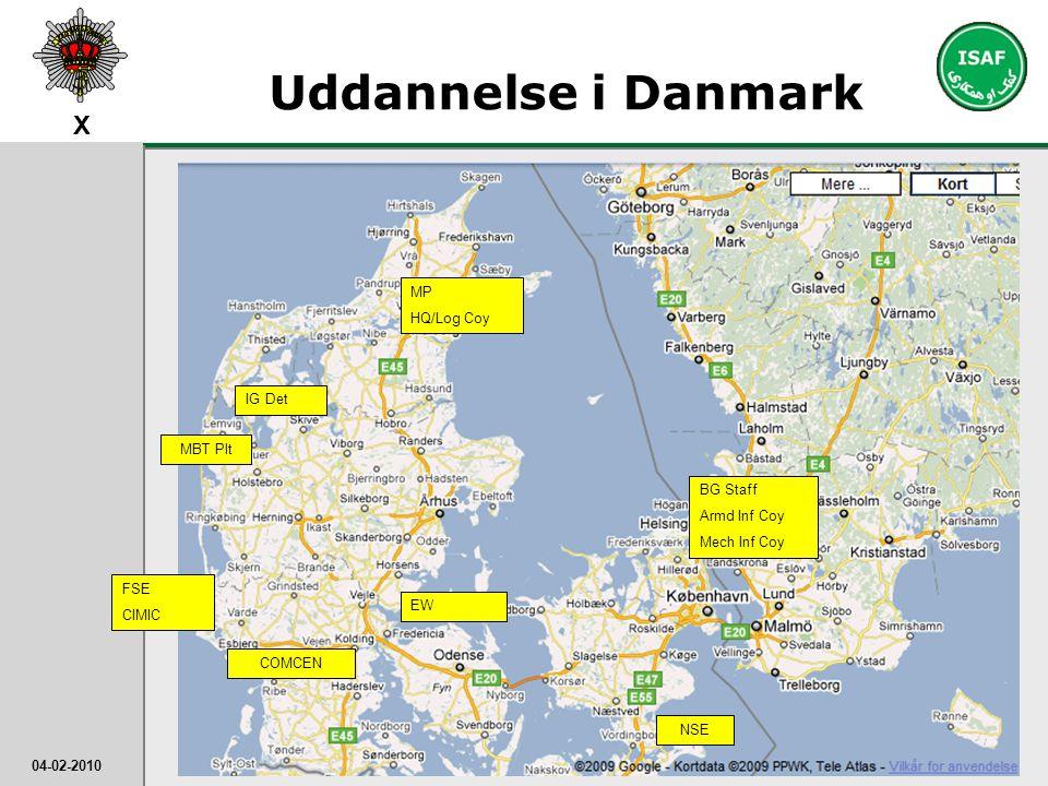 Uddannelse i Danmark MP. HQ/Log Coy.