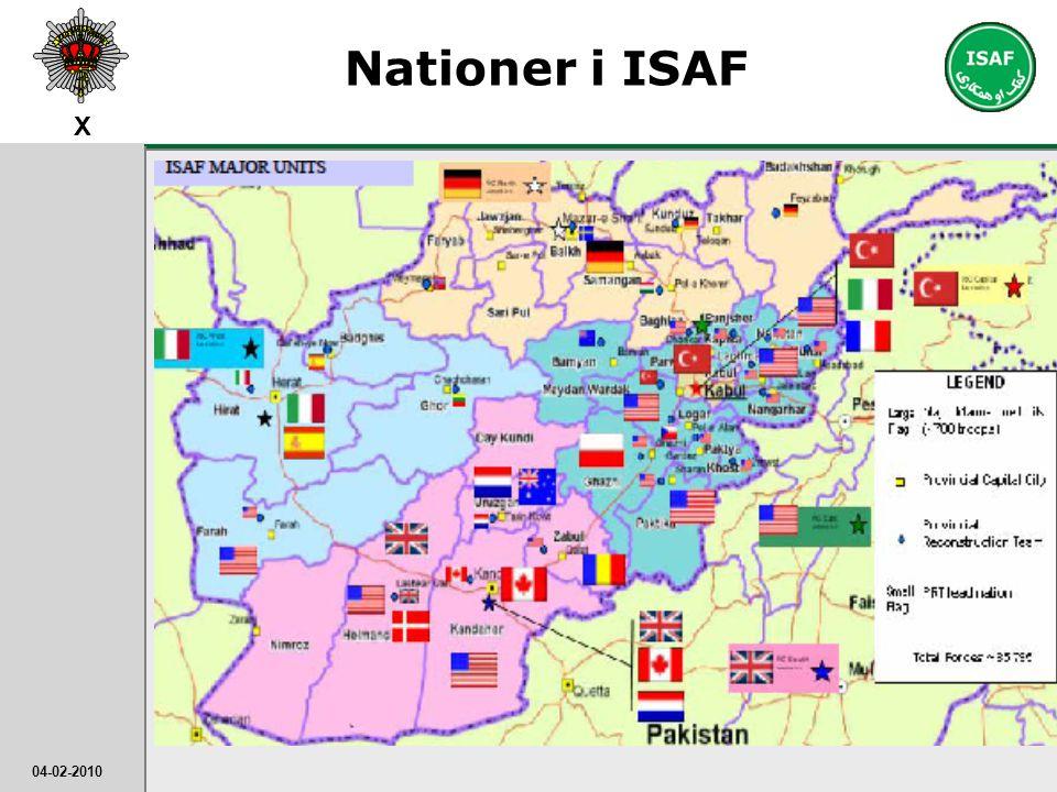 Nationer i ISAF Man kan også få det indtryk, at DK helt alene skal få styr på Afghanistan. Men andre lande bidrager også.