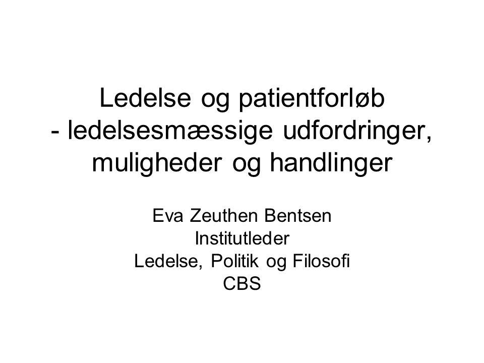 Eva Zeuthen Bentsen Institutleder Ledelse, Politik og Filosofi CBS