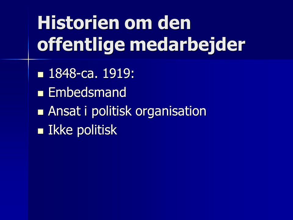 Historien om den offentlige medarbejder