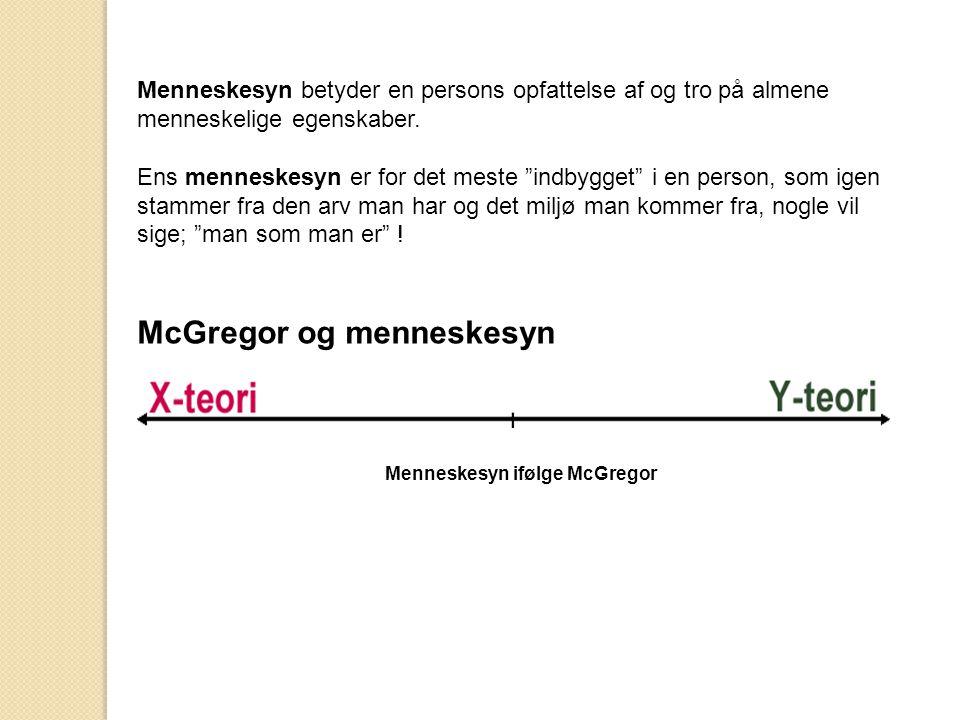 Menneskesyn ifølge McGregor