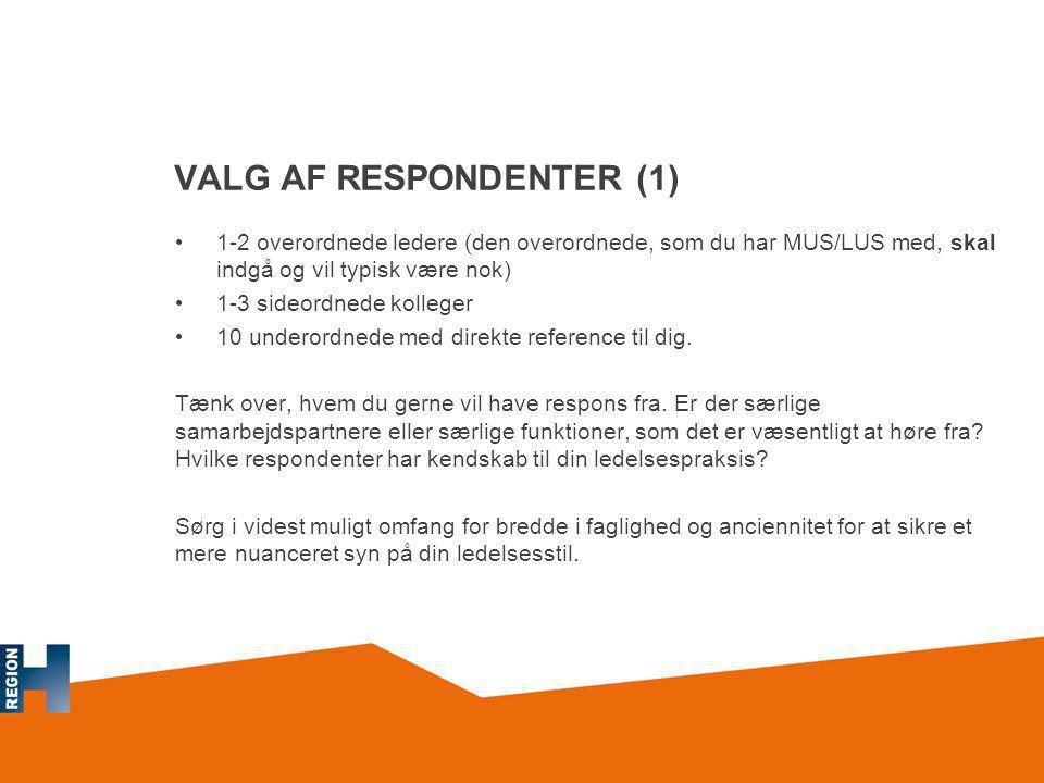 VALG AF RESPONDENTER (1)