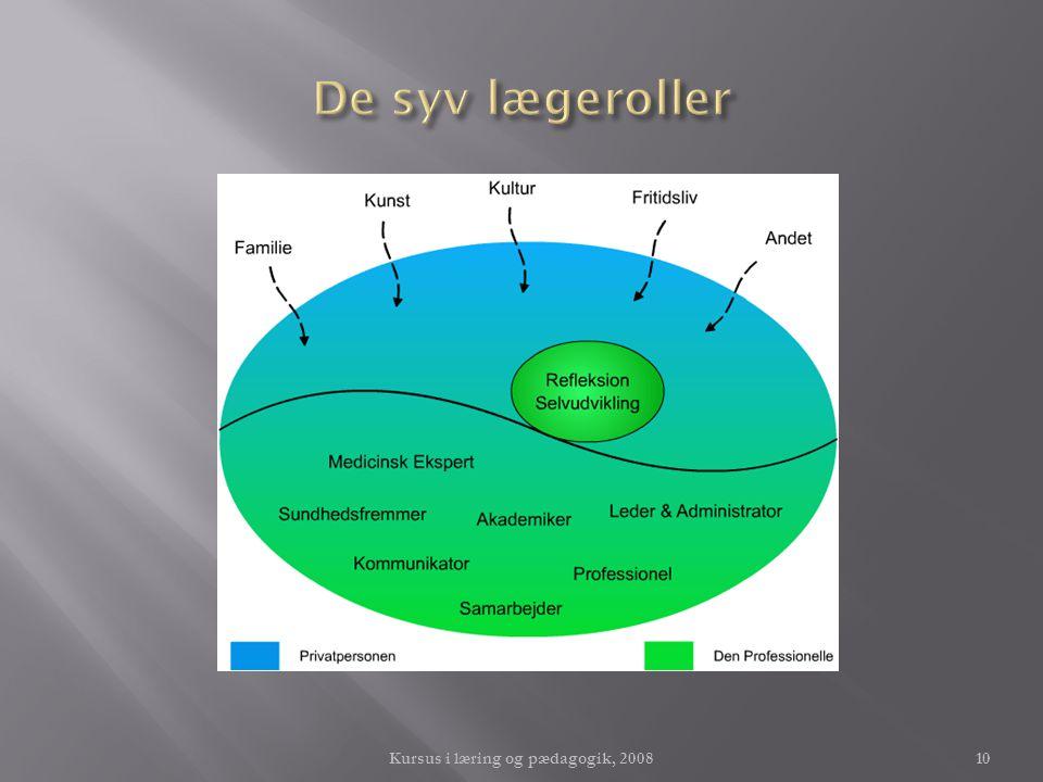 Kursus i læring og pædagogik, 2008