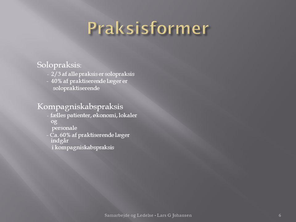 Samarbejde og Ledelse - Lars G Johansen