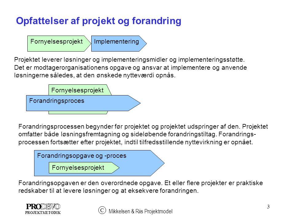 Opfattelser af projekt og forandring