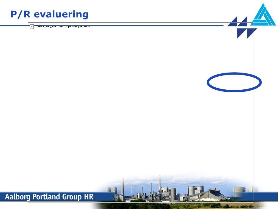 P/R evaluering X