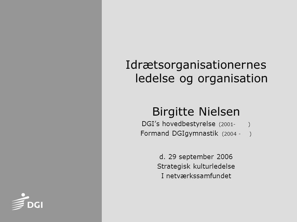 Idrætsorganisationernes ledelse og organisation