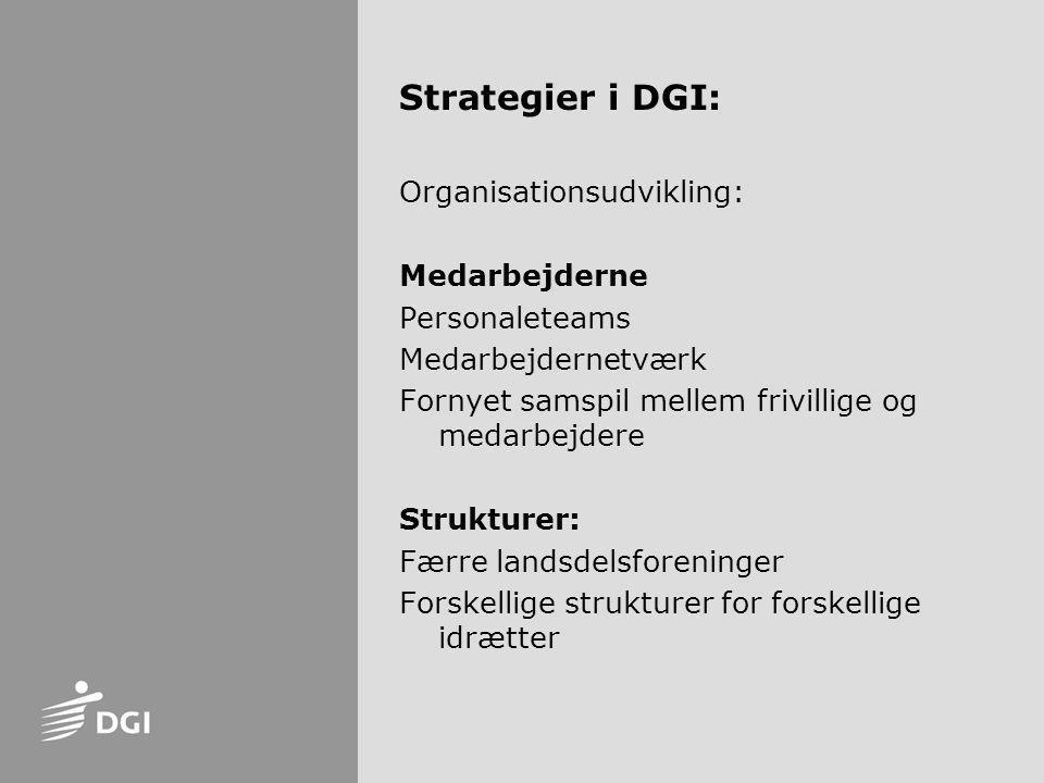 Strategier i DGI: Organisationsudvikling: Medarbejderne Personaleteams