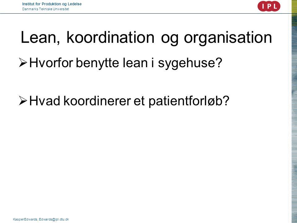 Lean, koordination og organisation