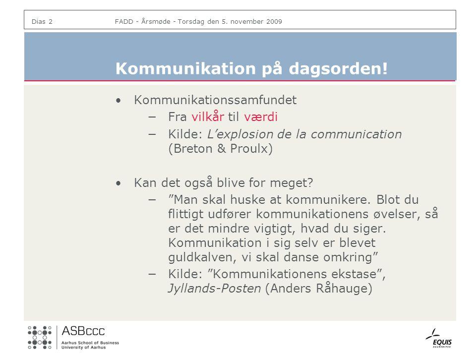 Kommunikation på dagsorden!