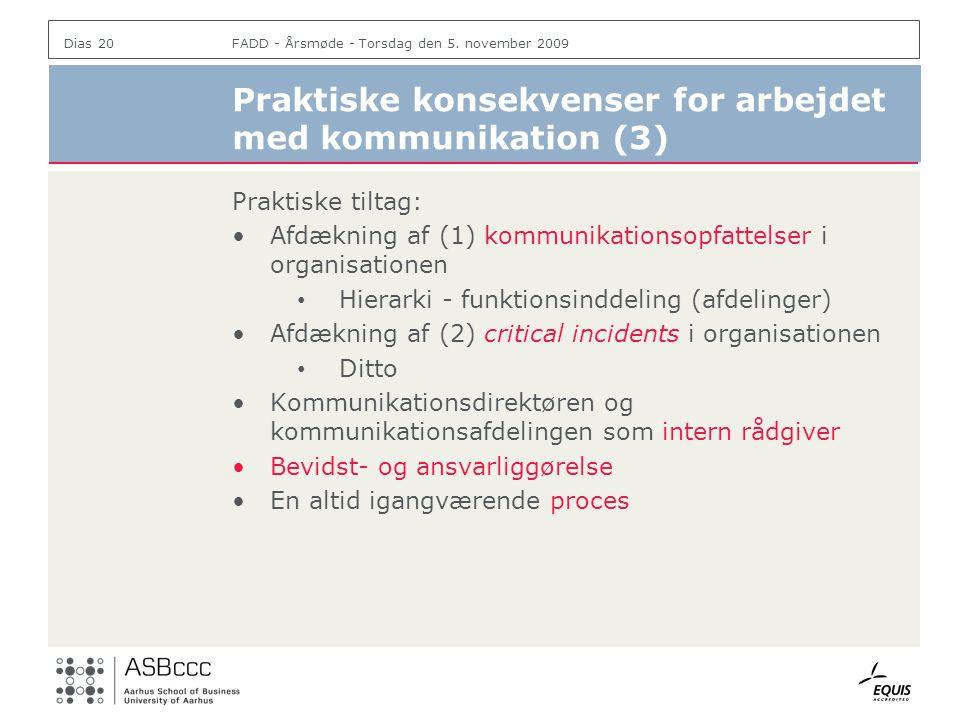 Praktiske konsekvenser for arbejdet med kommunikation (3)