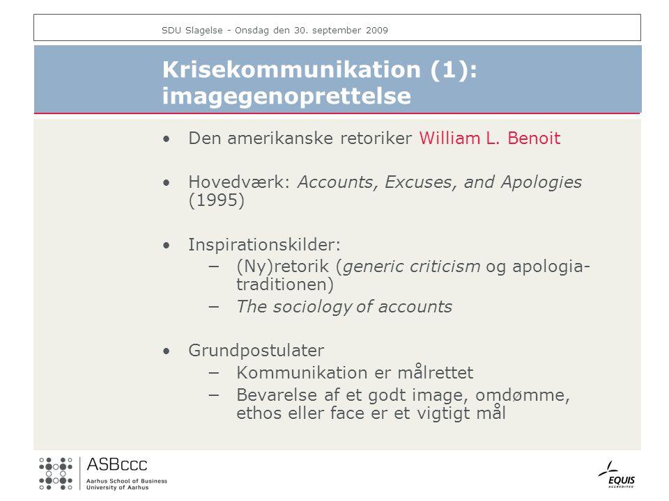Krisekommunikation (1): imagegenoprettelse