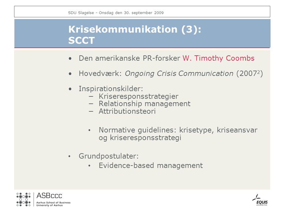 Krisekommunikation (3): SCCT
