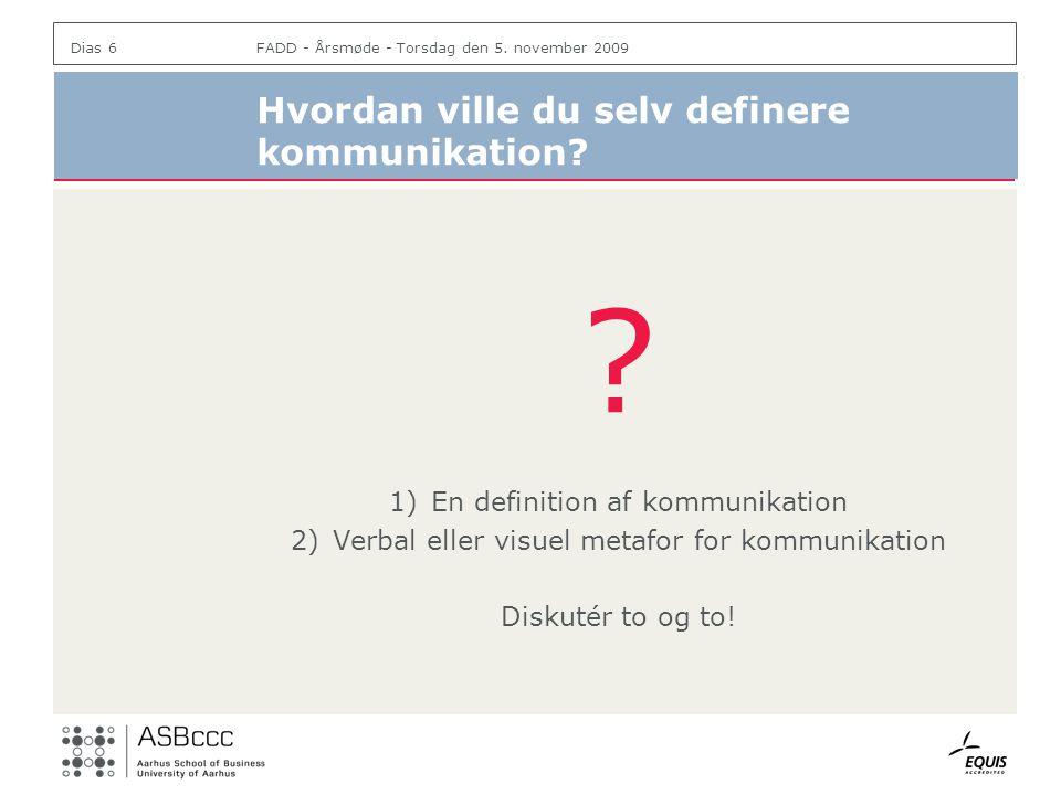 Hvordan ville du selv definere kommunikation