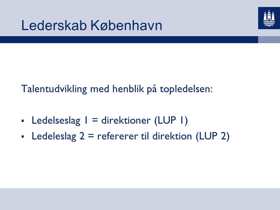 Lederskab København Talentudvikling med henblik på topledelsen:
