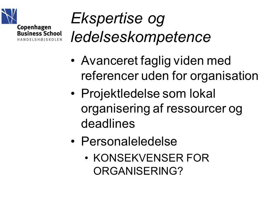 Ekspertise og ledelseskompetence