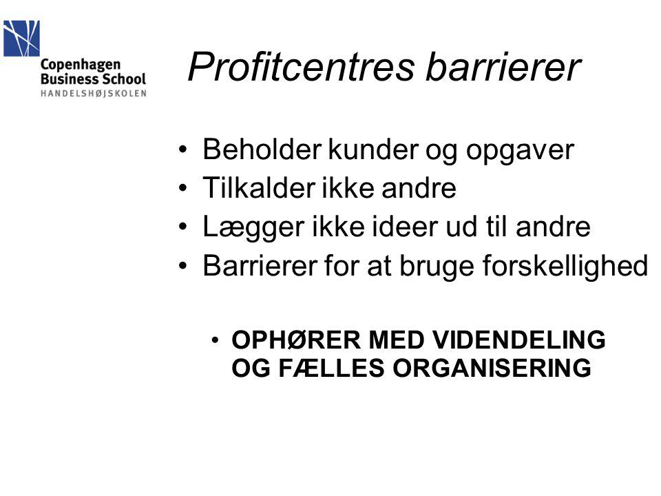 Profitcentres barrierer