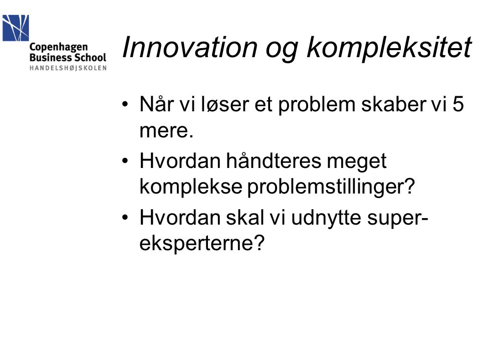 Innovation og kompleksitet