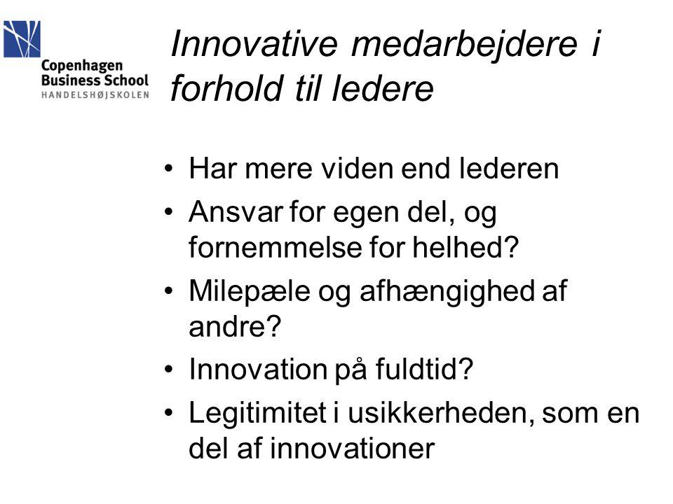 Innovative medarbejdere i forhold til ledere