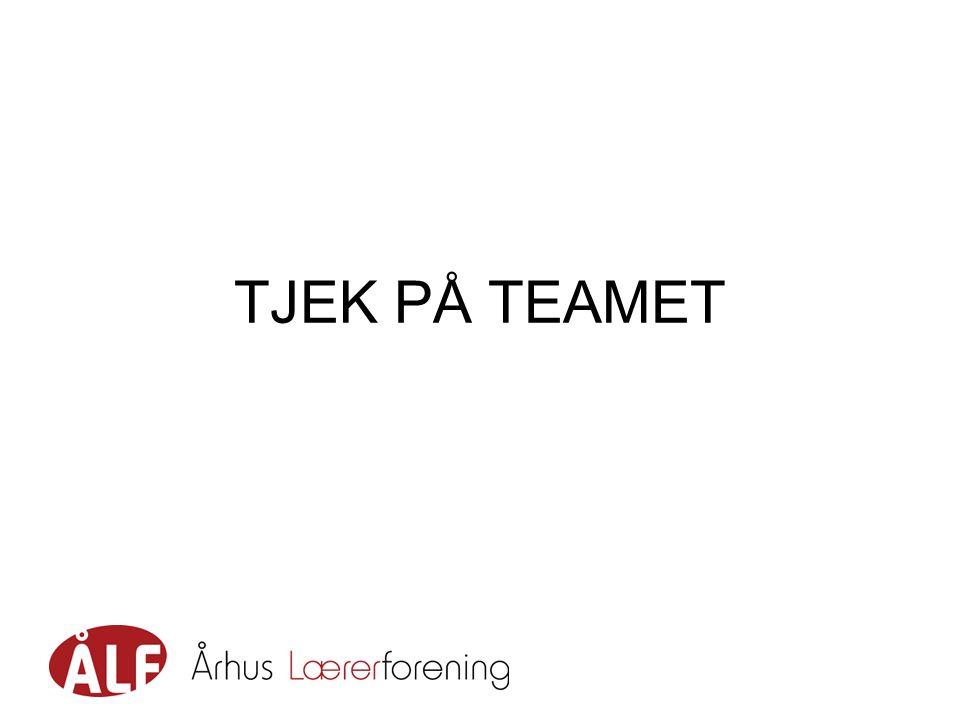 TJEK PÅ TEAMET