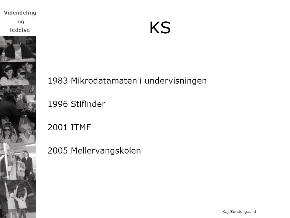 KS 1983 Mikrodatamaten i undervisningen 1996 Stifinder 2001 ITMF
