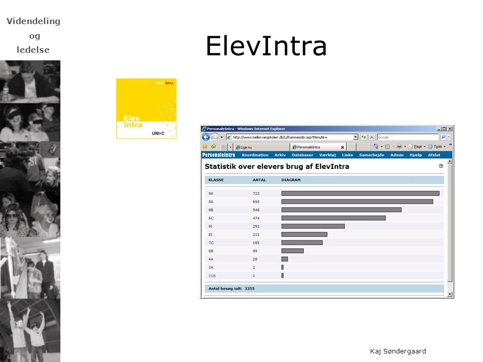 ElevIntra Forældreintra: Afhængig af lærerengagement, tradition – nyhedsbreve, skemaændringer, billeder fra klassen, praktiske informationer.