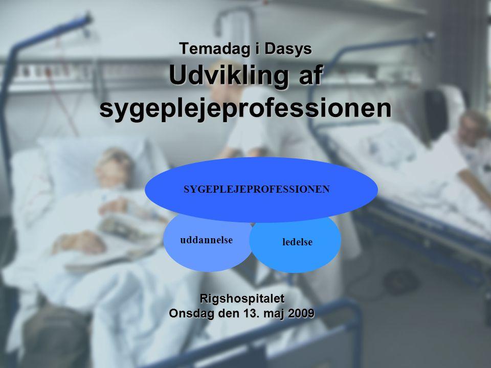 Temadag i Dasys Udvikling af sygeplejeprofessionen