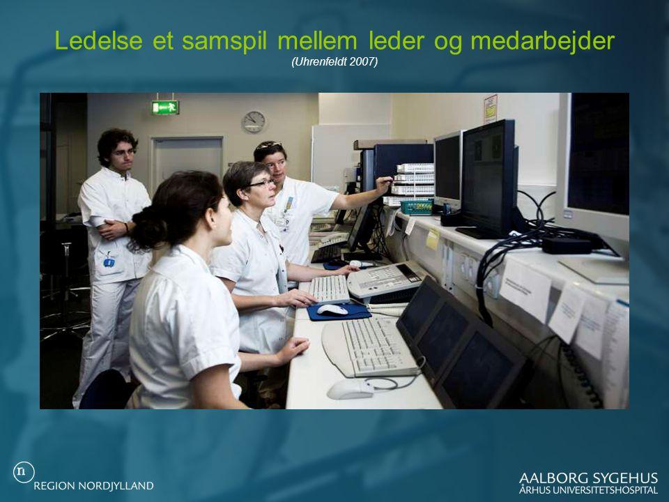 Ledelse et samspil mellem leder og medarbejder (Uhrenfeldt 2007)