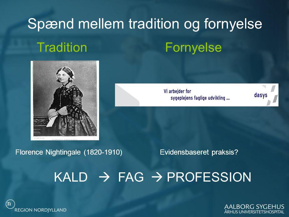 Spænd mellem tradition og fornyelse