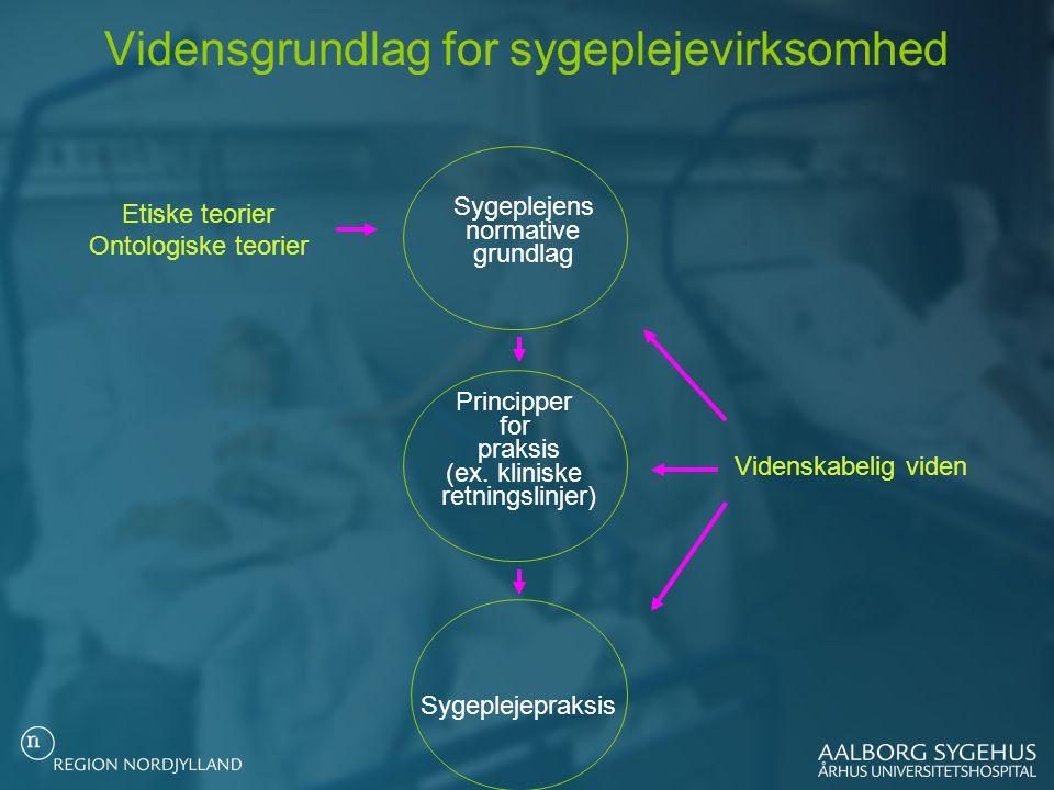 Vidensgrundlag for sygeplejevirksomhed
